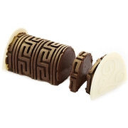 Hand-Crafted Golden Decretive Coffee Chocolate Log