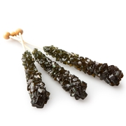 Large Unwrapped Black Rock Candy Crystal Sticks
