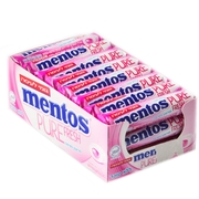 Mentos Sugar-Free Pure Fresh Fruit Mint Rolls - 24CT Box