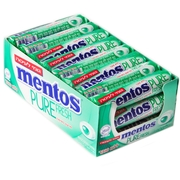 Mentos Sugar-Free Pure Fresh Spearmint Rolls - 24CT Box