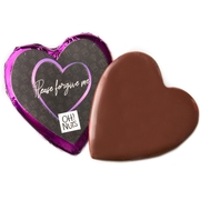 'Please Forgive Me' Dark Belgian Chocolate Message Heart
