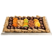 Silver Picture Frame Gift With Dried Fruits and Chocolates