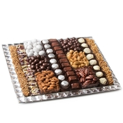 Decorative Gem Mirrored X-large Tray Gift Platter