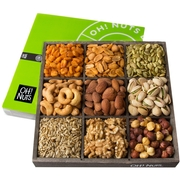 Holiday 9 Section Gourmet Nuts Wood Tray
