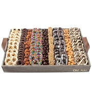 XXL Wooden Nuts & Chocolates Line-Up Gift Basket