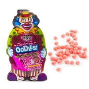 Oodles Purim Clown Tiny Tangy Strawberry Fruity Chews - 24CT
