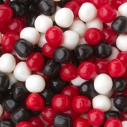 Sour Red, Black & White Candy Balls Mix