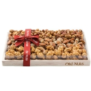 Oblong Nut Wooden Gift Basket