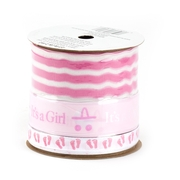 Pink Baby Shower Tree Ribbon Spool