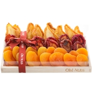 Oblong Dried Fruit Wooden Gift Basket