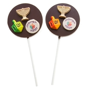 Hand Decorated Hanukkah Chocolate Lollipops