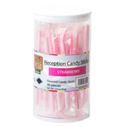 Pink Reception Candy Sticks - Strawberry