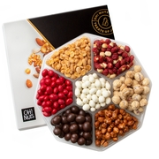 Oh! Nuts® Holiday Gift Basket, Large Peanuts Variety Assortment Gourmet Christmas Food Baskets, Men women & Families Mothers Fathers Valentines Day thanksgiving, Birthday & Get Well tray care Package