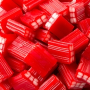 Red Strawberry Licorice Gummy Cubes - 2.2 LB Bag