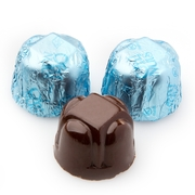 Non-Dairy Hazelnut Blue Foiled Chocolate Truffles - 5 LB