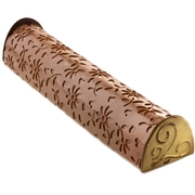 Hand-Crafted Decorative Embossed Truffle Chocolate Log