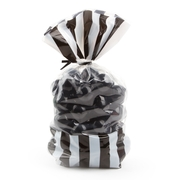 Black Striped Favor Bag - 10CT