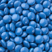 Blue Chocolate Lentils Gems