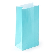 Caribbean Blue Paper Treat Bags - 12CT