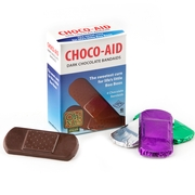 Choco-Aid Dark Chocolate Bandaids Box