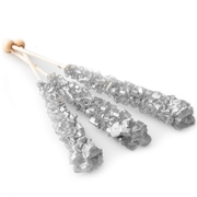 Wrapped Silver Rock Candy Crystal Sticks