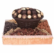 Square Dark Chocolate & Nut Gift Basket
