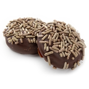Gold Sprinkles Dark Chocolate Coated Sandwich Cookies