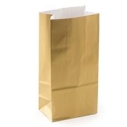 Gold Paper Treat Bags - 12CT
