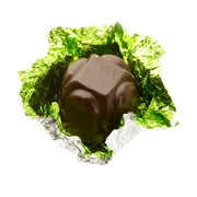 Non-Dairy Green Foiled Diamond Chocolate Truffles