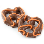 Orange Drizzled Chocolate Pretzels