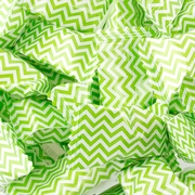 Light Green Chevron Stripe Wrapped Buttermint