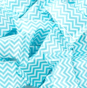Light Blue Chevron Stripe Wrapped Buttermint