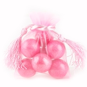Pink Mesh Favor Bags With Tassels - 12CT