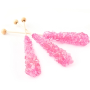 Light Pink Wrapped Rock Candy Crystal Sticks - Bubble Gum