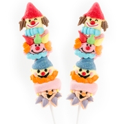 Fish Kabob Marshmallow Clowns Lollipops - 12CT