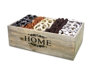 Wooden Home Chocolate & Nuts Basket - Israel Only