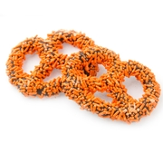 Chocolate Covered Pretzels with Orange Sprinkles - 10CT Box