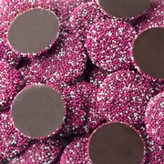 Pink & White Dark Chocolate Nonpareils