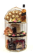 Purim 3 Tier Mirror Tray Specialty - Israel Only