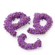 Purple Sprinkle Broken Pretzel Pieces - 1 LB Bag