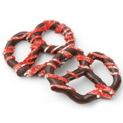 Chocolate Covered Pretzels with Red Suger - 10CT Box