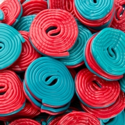 Red & Blue Spiral Licorice - 2 LB Bag