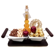 Rosh Hashanah 2 Sectional Basket Gift - Israel Only