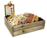 Rosh Hashanah Large Wooden Basket - Israel Only