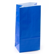 Royal Blue Paper Treat Bags - 12CT