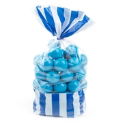 Royal Blue Striped Favor Bag