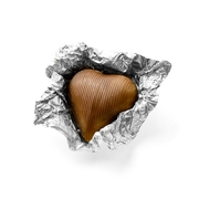 Silver Milk Chocolate Hearts