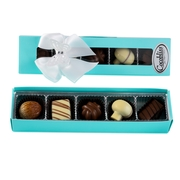 Premium Belgium Truffles Tiffany Blue Box - 5 PC Box