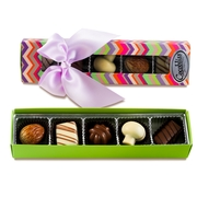 Premium Belgium Truffles Colorful Box - 5 PC Box