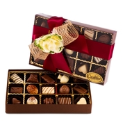 Premium Belgium Truffles Clear Red Box - 15 PC Box